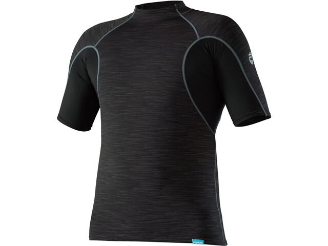 NRS HydroSkin 0.5 Shortsleeve Shirt Herren black